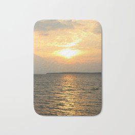 Vertical Sunrise over Lake Huron Bath Mat