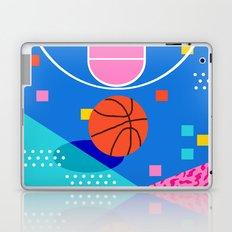 Shot Caller - memphis retro basketball sports athletic art design neon throwback 80s style Laptop & iPad Skin