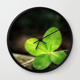 Clover_003_by_JAMFoto Wall Clock