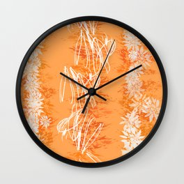 Orange Peel Wall Clock