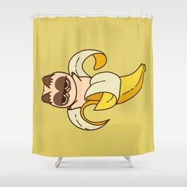 banana Cat Fruits food cats Shower Curtain