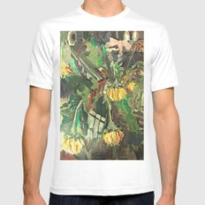 SUNFLOWERS  White Mens Fitted Tee MEDIUM
