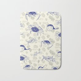 Crabbing Blues Bath Mat
