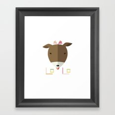 LOLO in ORIGAMI Framed Art Print