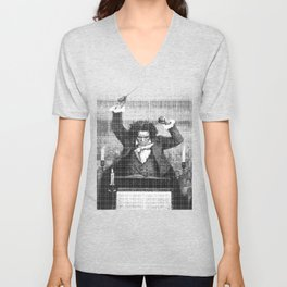 Beethoven 250th anniversary Unisex V-Neck