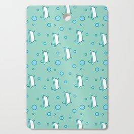 Rub a dub dub, bubbles and a bathtub (aqua) Cutting Board