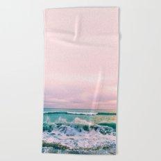beach sunset photo Beach Towel
