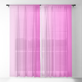 White and Pink Gradient 044 Sheer Curtain