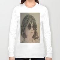 allyson johnson Long Sleeve T-shirts featuring DAKOTA JOHNSON by Virginieferreux