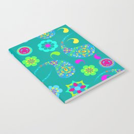Green Paisley № 5 Notebook