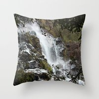 waterfall Throw Pillows featuring Waterfall by Four Hands Art