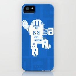 Megaman Typographique iPhone Case