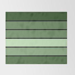 Green Stripes Throw Blanket