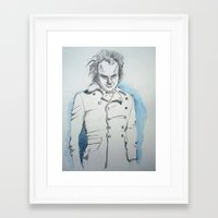 larry Framed Art Prints featuring Larry  by Charlotte KCP