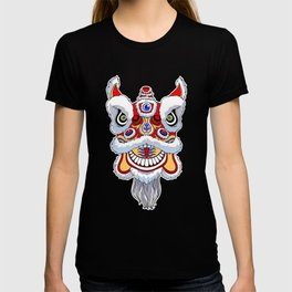 Chinese lion head dance. T-shirt
