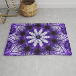 Glowing Violet Star - Iris Stepping Out Kaleidoscope Rug