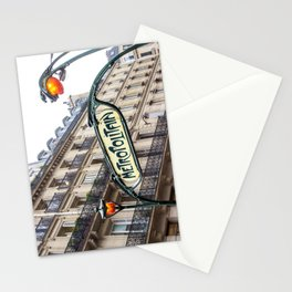 Metropolitain in Paris Stationery Cards