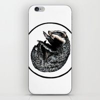 badger iPhone & iPod Skins featuring Badger by Natalie Toms Illustration