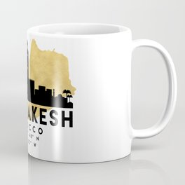 MARRAKESH MOROCCO SILHOUETTE SKYLINE MAP ART Coffee Mug