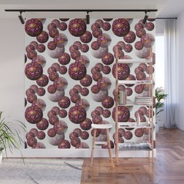 Encapsulated abstract flowers Wall Mural