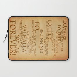 Viking Prayer Laptop Sleeve
