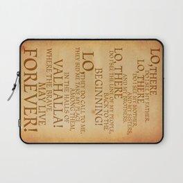 Viking Prayer Laptop Sleeve