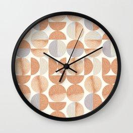 Mid-century Modern Tea Colors Wall Clock