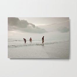 Ceremony at Seminyak Beach in Bali Metal Print