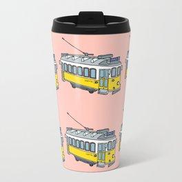 Lisbon Tram Pattern Travel Mug