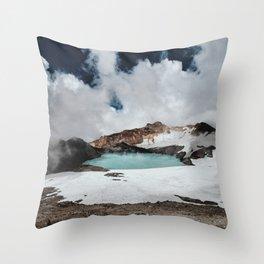 New Zealand Mount Ruapehu Volcano Throw Pillow