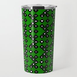 Kingdom Hearts III - Pattern - Green Travel Mug
