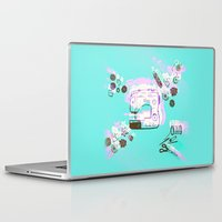 sewing Laptop & iPad Skins featuring Sewing Splash by minniemorrisart