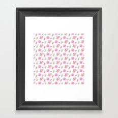 Tropical Chill Rose Pattern Framed Art Print
