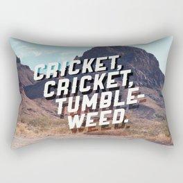 Cricket, cricket, tumbleweed. Rectangular Pillow