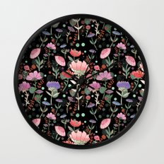 Wilderness Pattern Wall Clock