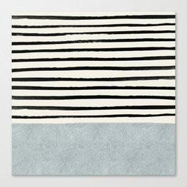 Silver x Stripes Canvas Print