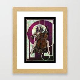 Art Nouveau Cellist Framed Art Print