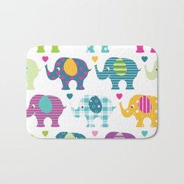 Love Elephants Bath Mat