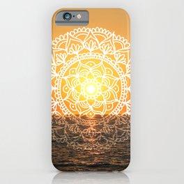 Sunset Mandala Ocean iPhone Case