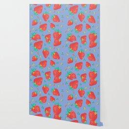 Strawberries | Purple Wallpaper