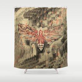 Anatomical Death's Head Hawk Moth Shower Curtain