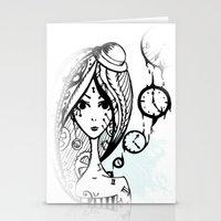 watch Stationery Cards featuring watch by DanilaTrubarova