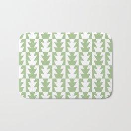 Art Deco Jagged Edge Pattern Sage Green Bath Mat