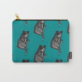 Ride On Bear_teal Carry-All Pouch