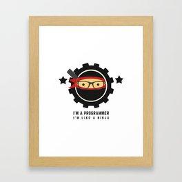 Programmer - Ninja Programmer Framed Art Print