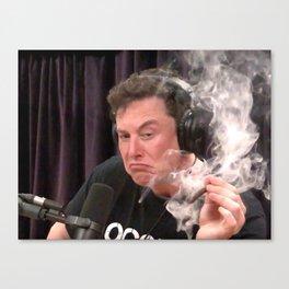 Elon Musk Smoking Weed Canvas Print