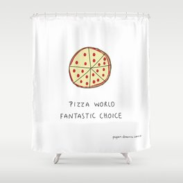 Pizza World Shower Curtain