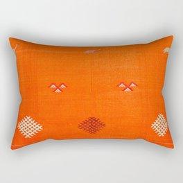 -A10- Traditional Anthropologie Moroccan orange Artwork. Rectangular Pillow