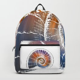 The Nautilus Shell Transparent - Quote Backpack