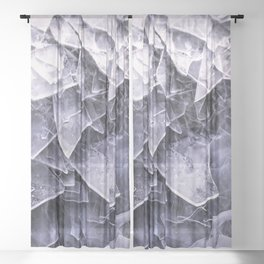 Cracked Ice Tiles In Lake Shore #decor #buyart #society6 Sheer Curtain